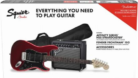 Squier Affinity HSS Stratocaster Pack Candy Apple Red